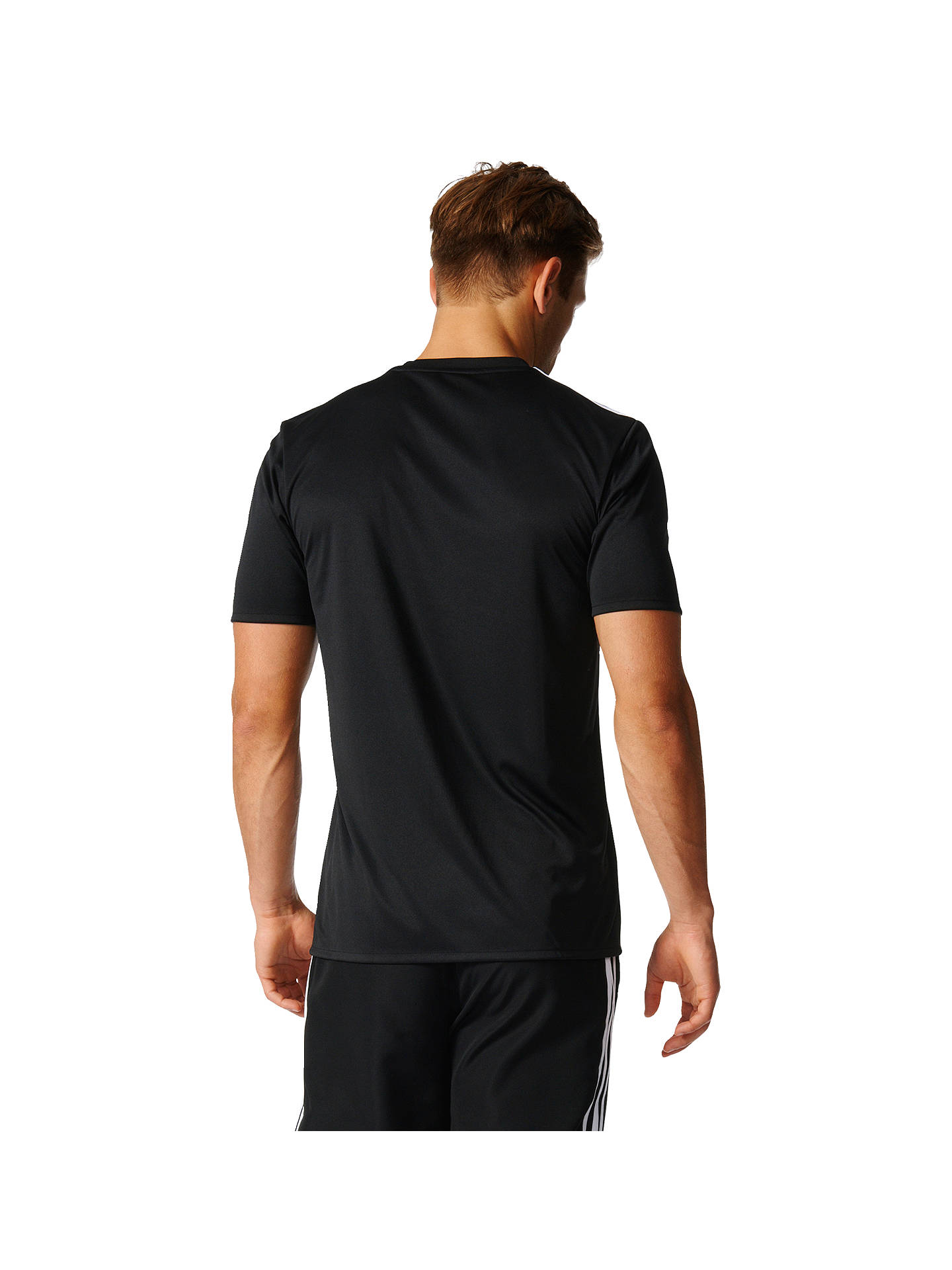 Adidas Tango Cage Graphic Football Jersey Top, Black at John