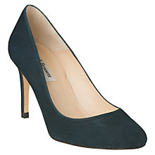 Buy L.K. Bennett Sasha Round Toe Court Shoes,  Evergreen Suede Online at johnlewis.com