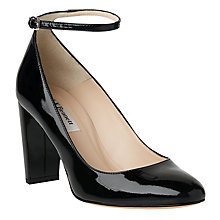 Buy L.K. Bennett Imogen Closed Court Shoes, Black Patent Online at johnlewis.com