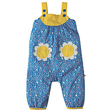 Buy Frugi Organic Baby Springtime Summer Swallows Dungarees, Blue/Multi Online at johnlewis.com