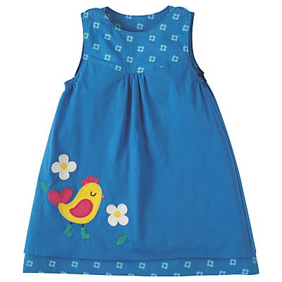 Product photo of Frugi organic baby lamorna reversible dress blue
