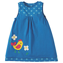 Buy Frugi Organic Baby Lamorna Reversible Dress, Blue Online at johnlewis.com
