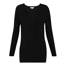 Buy Whistles Savannah Side Split Jumper, Black Online at johnlewis.com