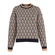 Buy Whistles Britt Diamond Jacquard Sweater, Multi Online at johnlewis.com