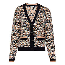 Buy Whistles Diamond Jacquard Cardigan, Multi Online at johnlewis.com