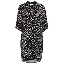 Buy Whistles Giraffe Print Shirt Dress, Black/Multi Online at johnlewis.com
