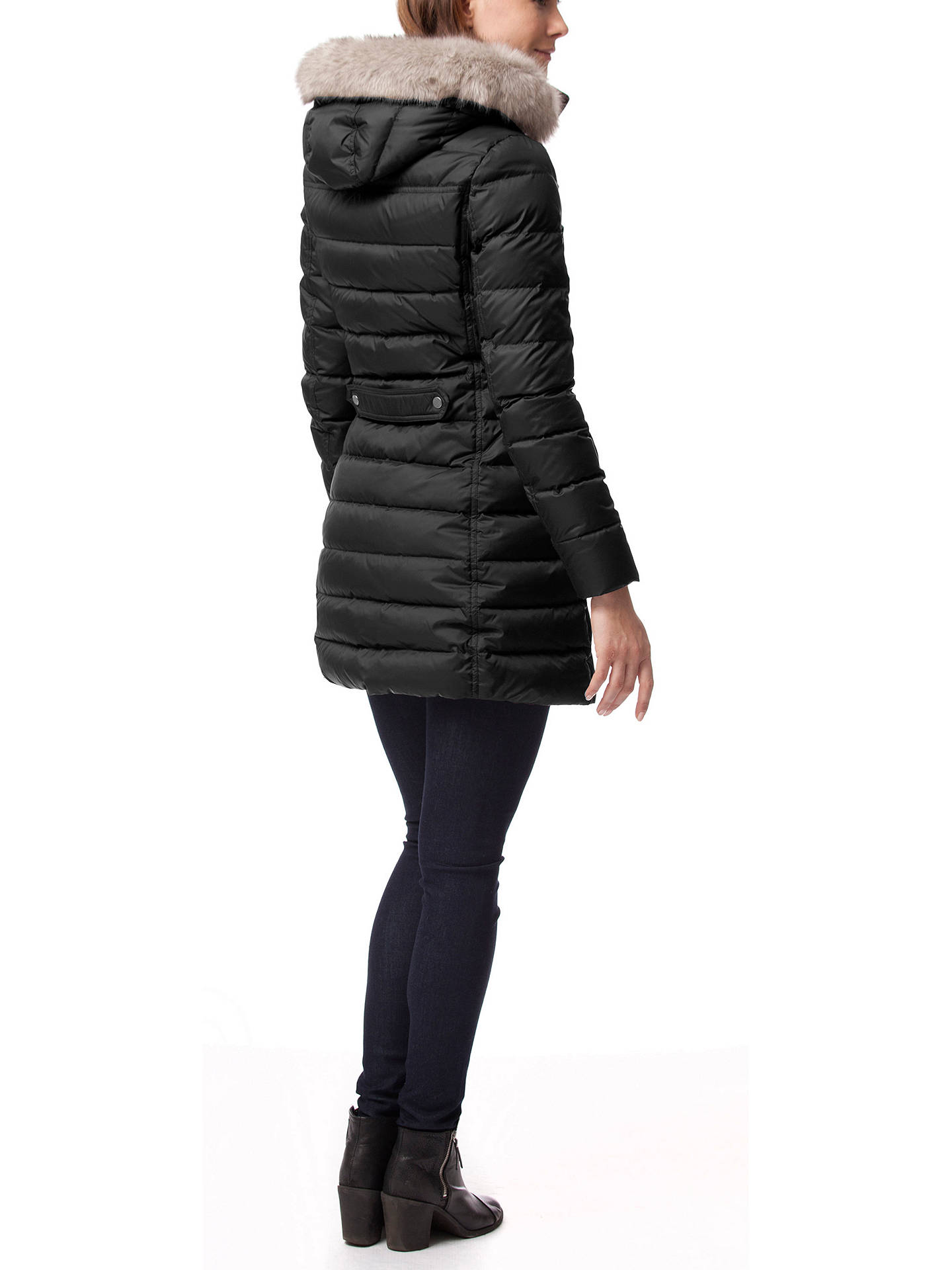 736d7d0a ... Buy Tommy Hilfiger Tyra Down Coat, Masters Black, S Online at  johnlewis.com ...