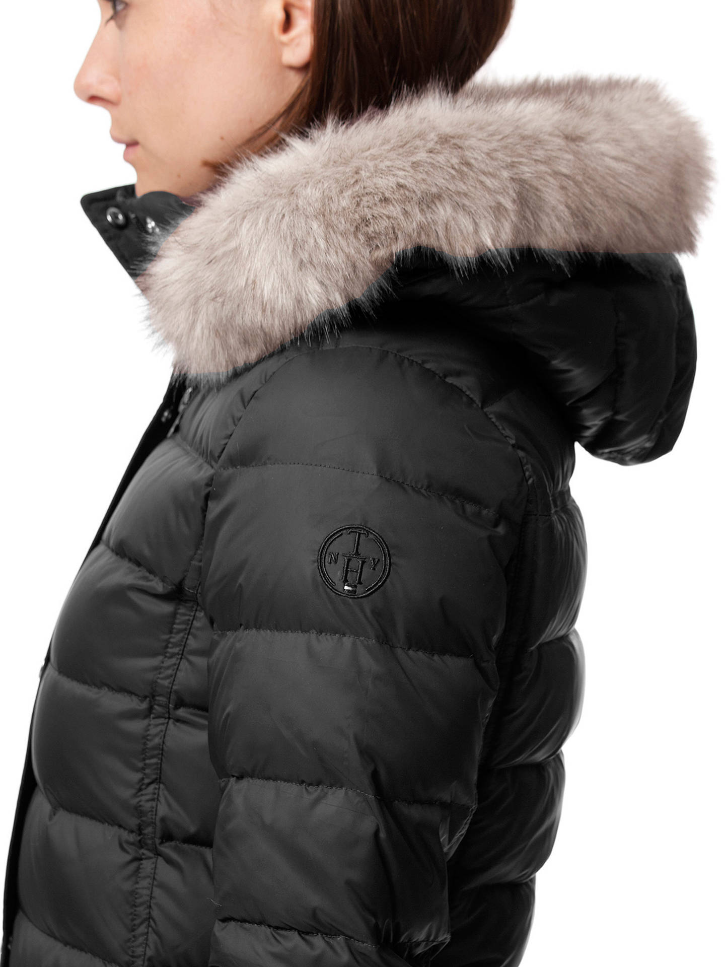 51f8e8dd ... Buy Tommy Hilfiger Tyra Down Coat, Masters Black, S Online at  johnlewis.com