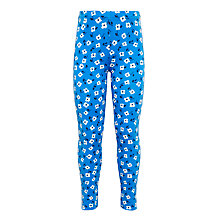 Buy John Lewis Girls' Floral Leggings, Blue Online at johnlewis.com