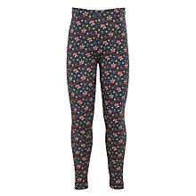 Buy John Lewis Girls' Ditsy Leggings, Insignia Blue Online at johnlewis.com