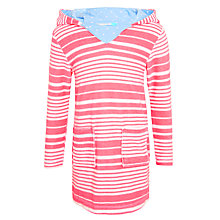 Buy John Lewis Girls' Nautical Stripe Toweling Dress, Cherry Blossom Online at johnlewis.com