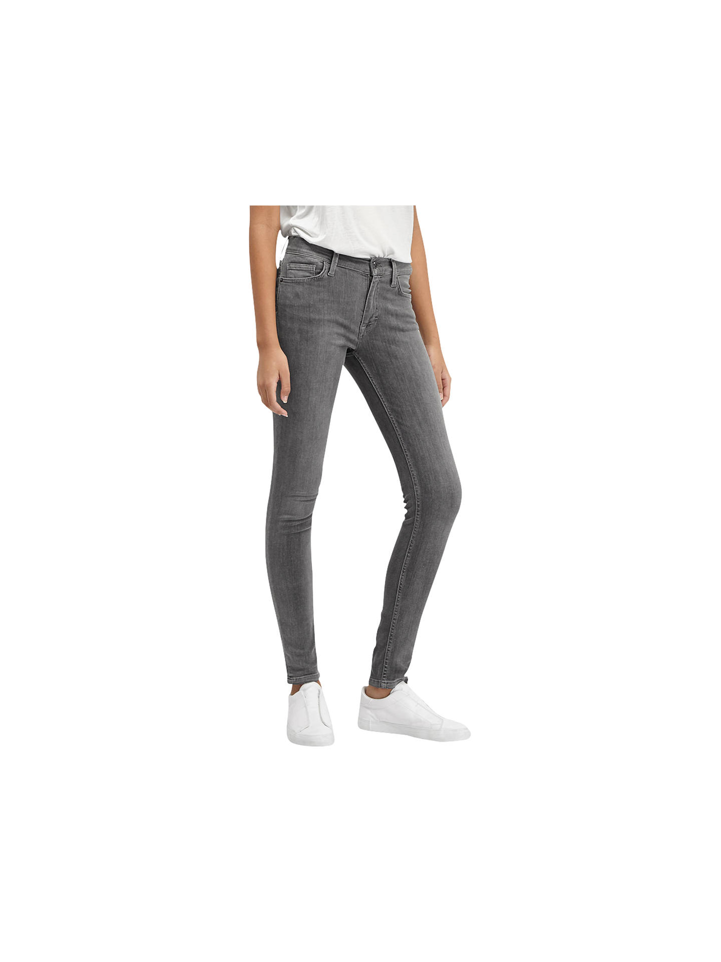Buy French Connection Skinny Stretch Rebound Denim Jeans, Charcoal, 8 Online at johnlewis.com