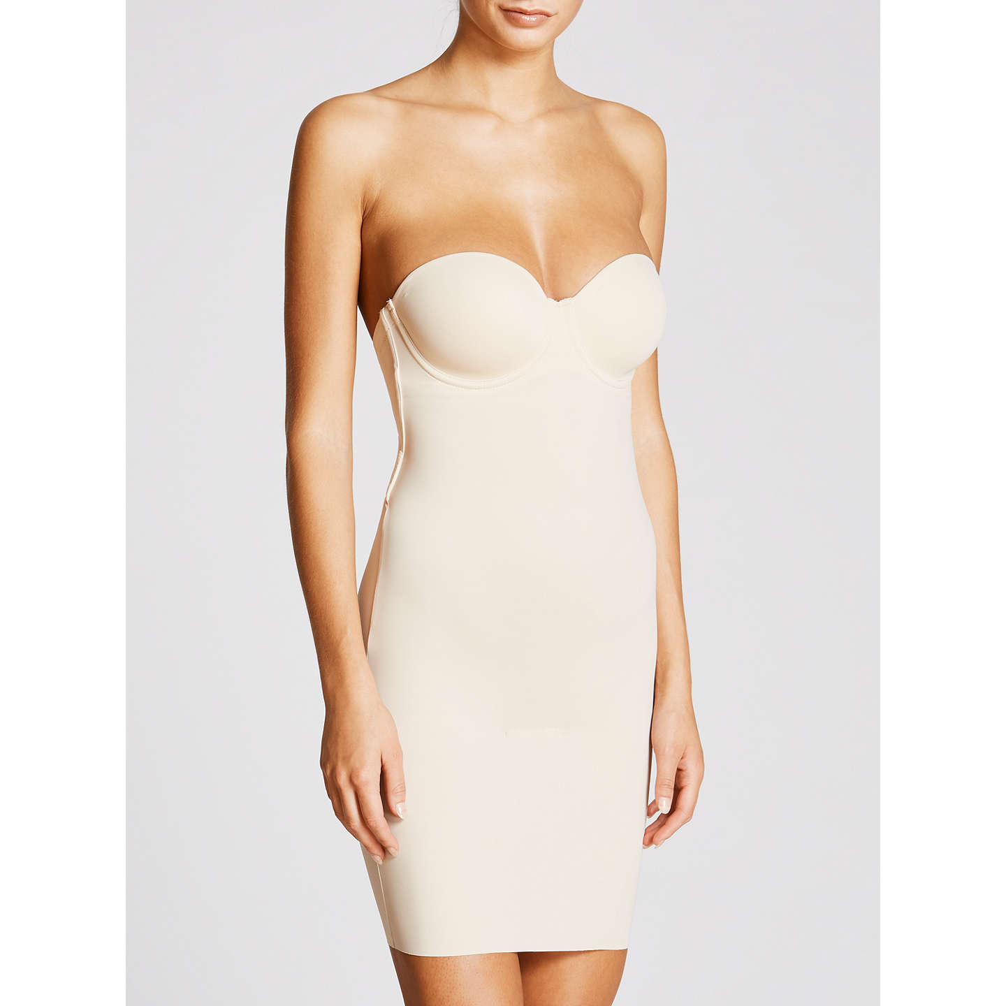 BuyMaidenform Comfort Endlessly Smooth Firm Control Slip, Latte, 34C Online at johnlewis.com