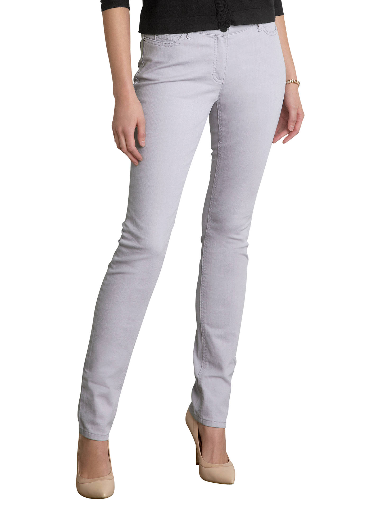 324c778f Buy Pure Collection Zara Slim Leg Jeans, Lilac, 8S Online at johnlewis.com  ...