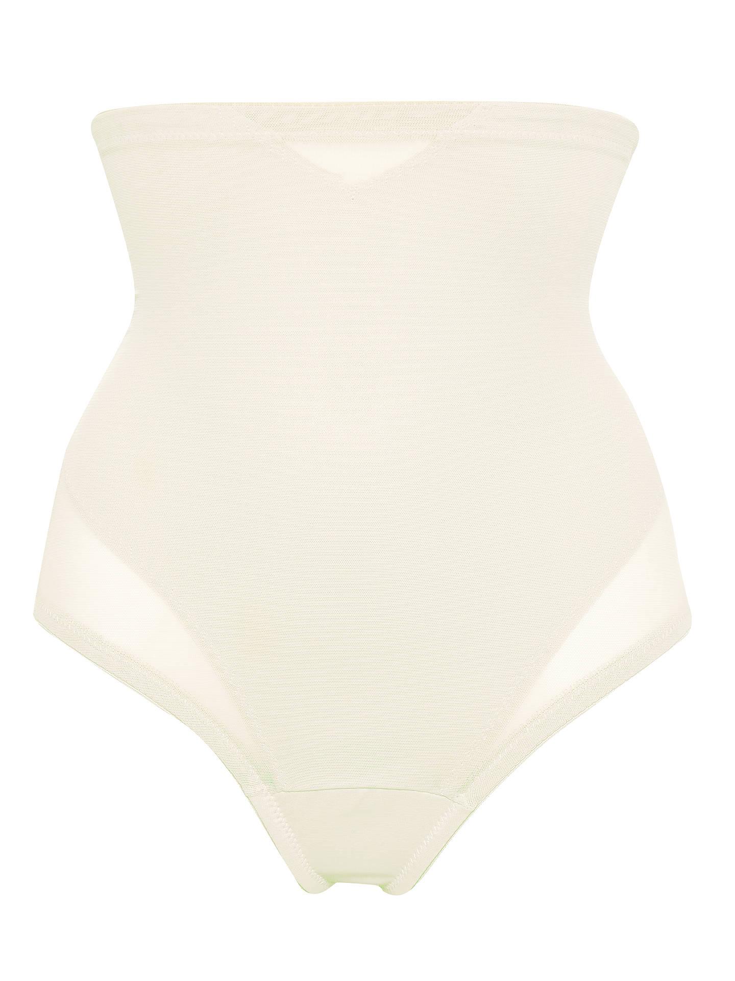 S-3XL Plus Size Black/Nude Women High-Waist Tummy Control Body Shaper Thong Panty Shapewear Lady