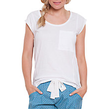 Buy Cyberjammies Camilla Pyjama Top, White Online at johnlewis.com