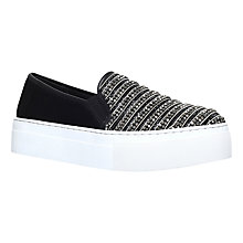 Buy KG by Kurt Geiger Latina Slip On Trainers, Black Online at johnlewis.com