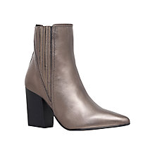 Buy Carvela Slate Block Heeled Ankle Boots, Gunmetal Online at johnlewis.com