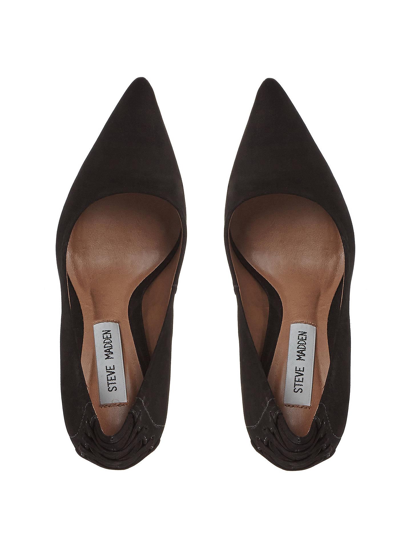 459d6f8b8ba Steve Madden Paiton Lace Detail Stiletto Heel Court Shoes at John ...