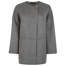 Buy Jaeger Double-Faced Cape, Light Grey Online at johnlewis.com