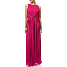 Buy Adrianna Papell Ruched Halter Neck Gown, Fuchsia Online at johnlewis.com