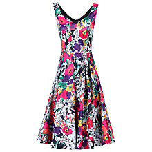 Buy Jolie Moi Sweetheart Neckline Floral Printed Dress, Black/Multi Online at johnlewis.com
