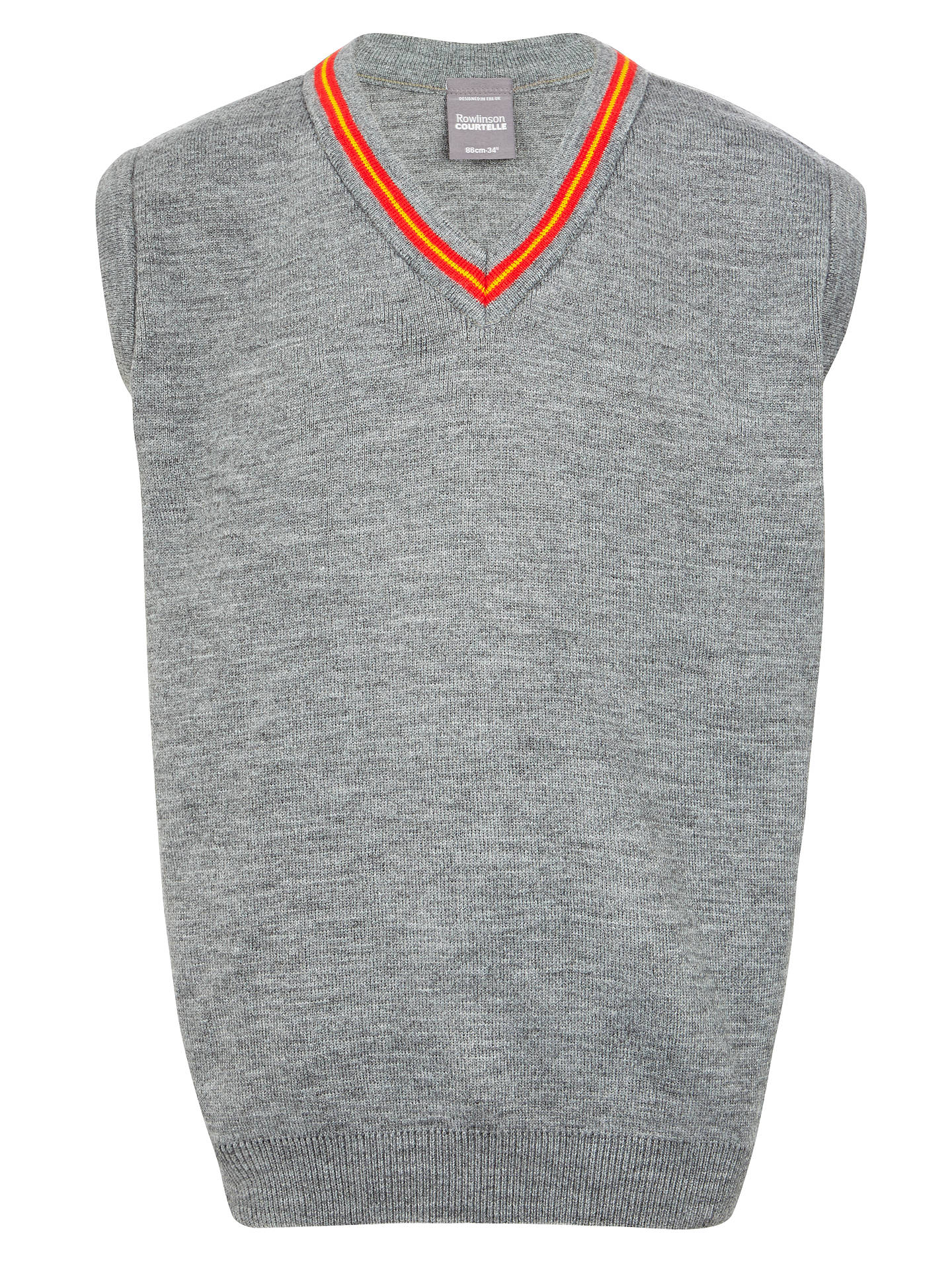 "BuySt John's College Slipover, Grey, Chest 24"" Online at johnlewis.com"