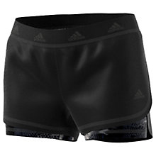 Buy Adidas 2-In-1 Print Training Shorts, Black Online at johnlewis.com