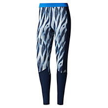 Buy Adidas Techfit Long Training Tights, Blue/Multi Online at johnlewis.com