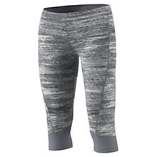 Buy Adidas Techfit Training Capris, Grey Online at johnlewis.com