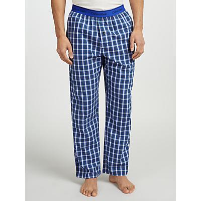 Calvin Klein Woven Cotton Check Lounge Pants, Blue/Purple