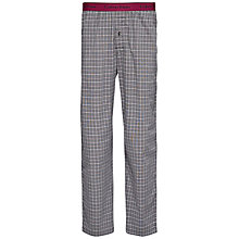 Buy Calvin Klein Woven Cotton Check Lounge Pants, Grey/Red Online at johnlewis.com