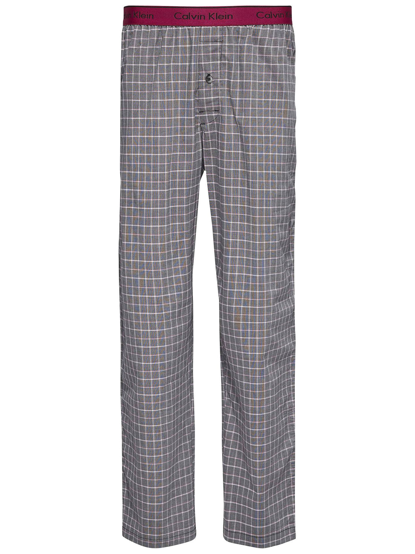 e6baf36fa5f Buy Calvin Klein Woven Cotton Check Lounge Pants