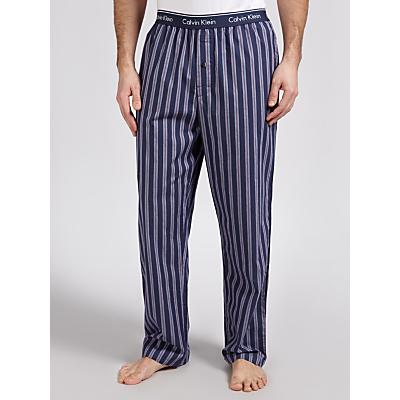 Calvin Klein Woven Stripe Lounge Pants, Navy/Red