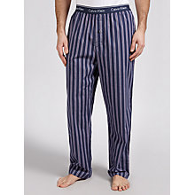 Buy Calvin Klein Woven Stripe Lounge Pants, Navy/Red Online at johnlewis.com
