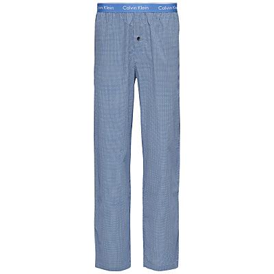Calvin Klein Frank Woven Cotton Check Lounge Pants, Blue