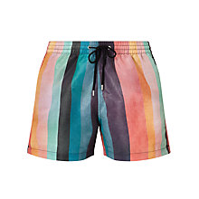 Buy Paul Smith Signature Stripe Swim Shorts, Multi Online at johnlewis.com