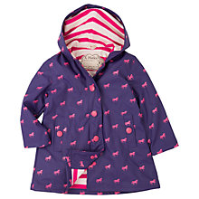 Buy Hatley Girls' Waterproof Mini Horses Splash Jacket, Purple Online at johnlewis.com