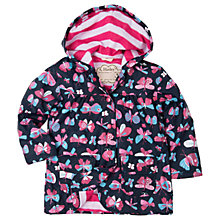 Buy Hatley Girls' Waterproof Pretty Flies Rain Jacket, Navy Online at johnlewis.com