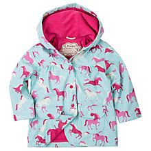 Buy Hatley Girls' Waterproof Pony Polka Dot Rain Jacket, Blue Online at johnlewis.com