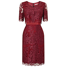 Buy Jacques Vert Petite Lace Layer Dress, Purple Online at johnlewis.com