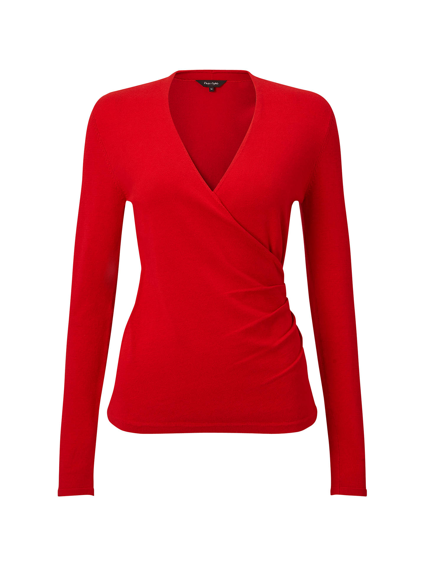 Phase Eight Wilma Wrap Knit Top Red At John Lewis Partners