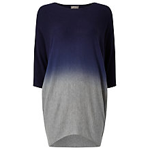 Buy Phase Eight Becca Dip Dye Batwing Jumper, Navy/Grey Online at johnlewis.com