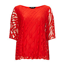 Buy Phase Eight Eve Geo Burnout Top, Tomato Online at johnlewis.com