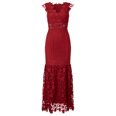 Phase Eight Collection 8 Sauvan Lace Dress, Scarlet