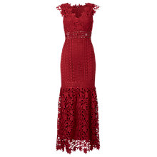 Buy Phase Eight Collection 8 Sauvan Lace Dress, Scarlet Online at johnlewis.com