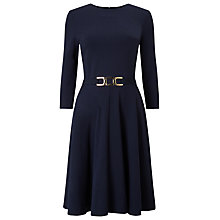 Buy Phase Eight Belted Ponte Swing Dress, Navy Online at johnlewis.com