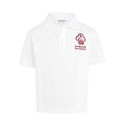 Product photo of Denstone college prep school pre school polo shirt white