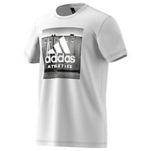 Buy Adidas Category Athletic Training T-Shirt, White Online at johnlewis.com