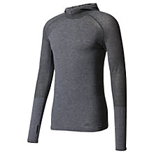 Buy Adidas Primeknit Long Sleeve Running Hoodie, Black Online at johnlewis.com